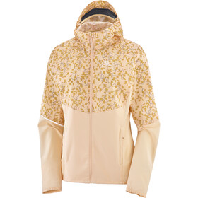 Salomon Agile Full Zip Wind Hoodie Women almond cream/ao